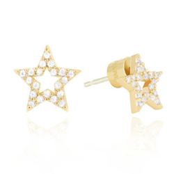 Astrid and Miyu NEW TRICKS STAR STUD EARRINGS IN GOLD.jpg