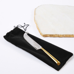 Candelabra Home White Marble Cheese Plate with Knife.jpg