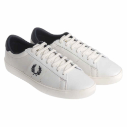 Fred Perry Spencer Leather Trainers in white with contrast laurel.jpg
