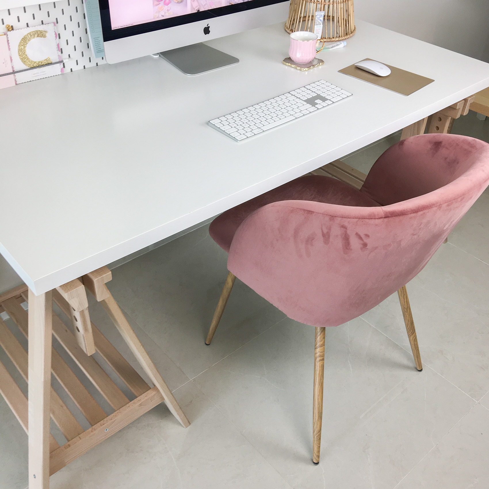 My New Desk Set Up At Home Claire Baker