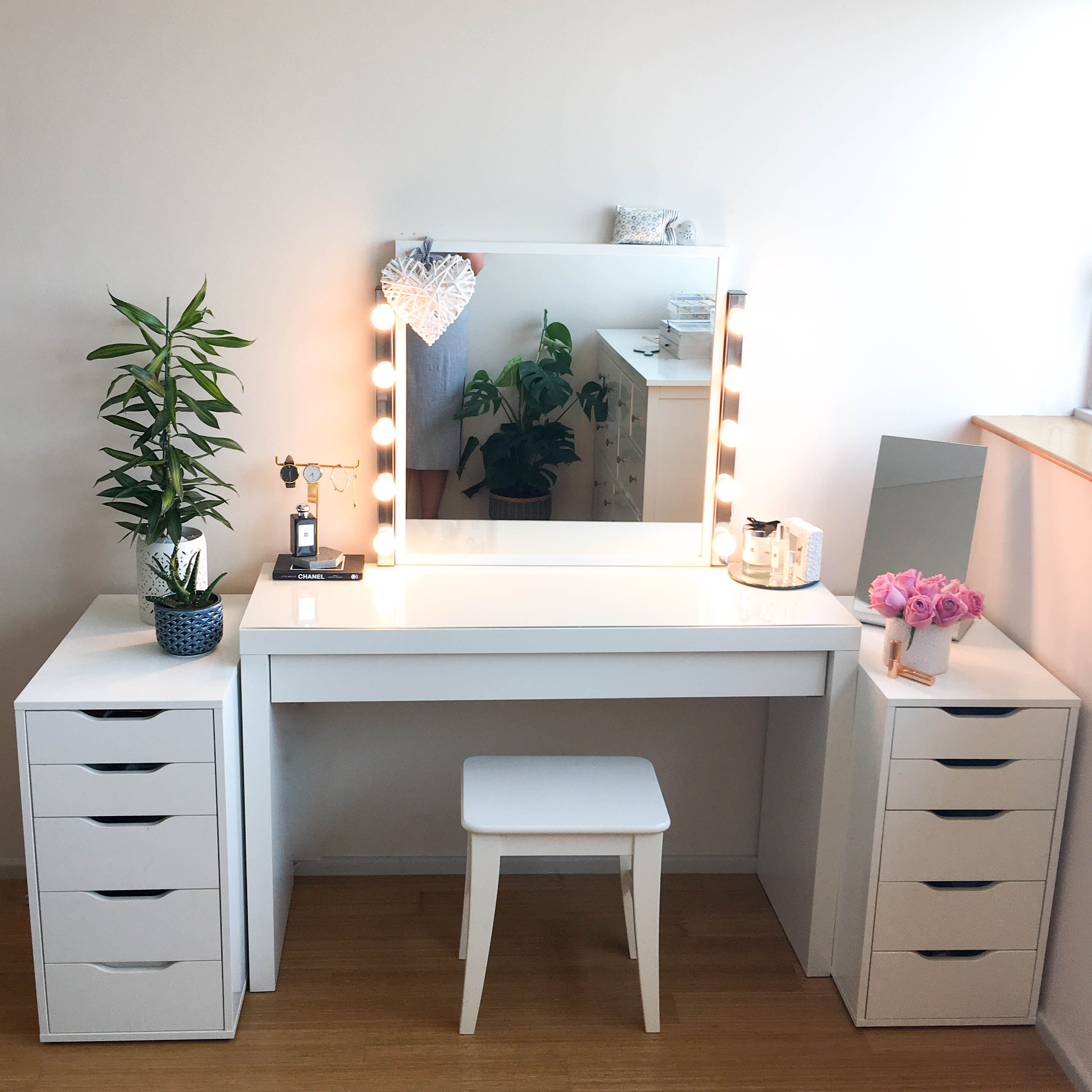 Makeup Dressing Vanity ~ My diy dressing table and vanity mirror claire baker